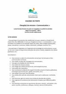 thumbnail of VACANCE DE POSTE Communication_LONG